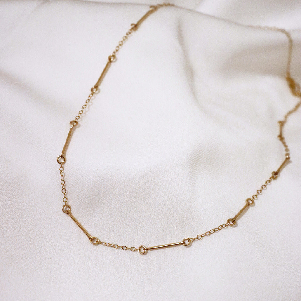 MOVV - Ivy Gold-Filled Bar Choker Necklace