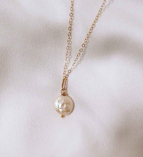 Leia Gold-Filled Pearl Drop Necklace