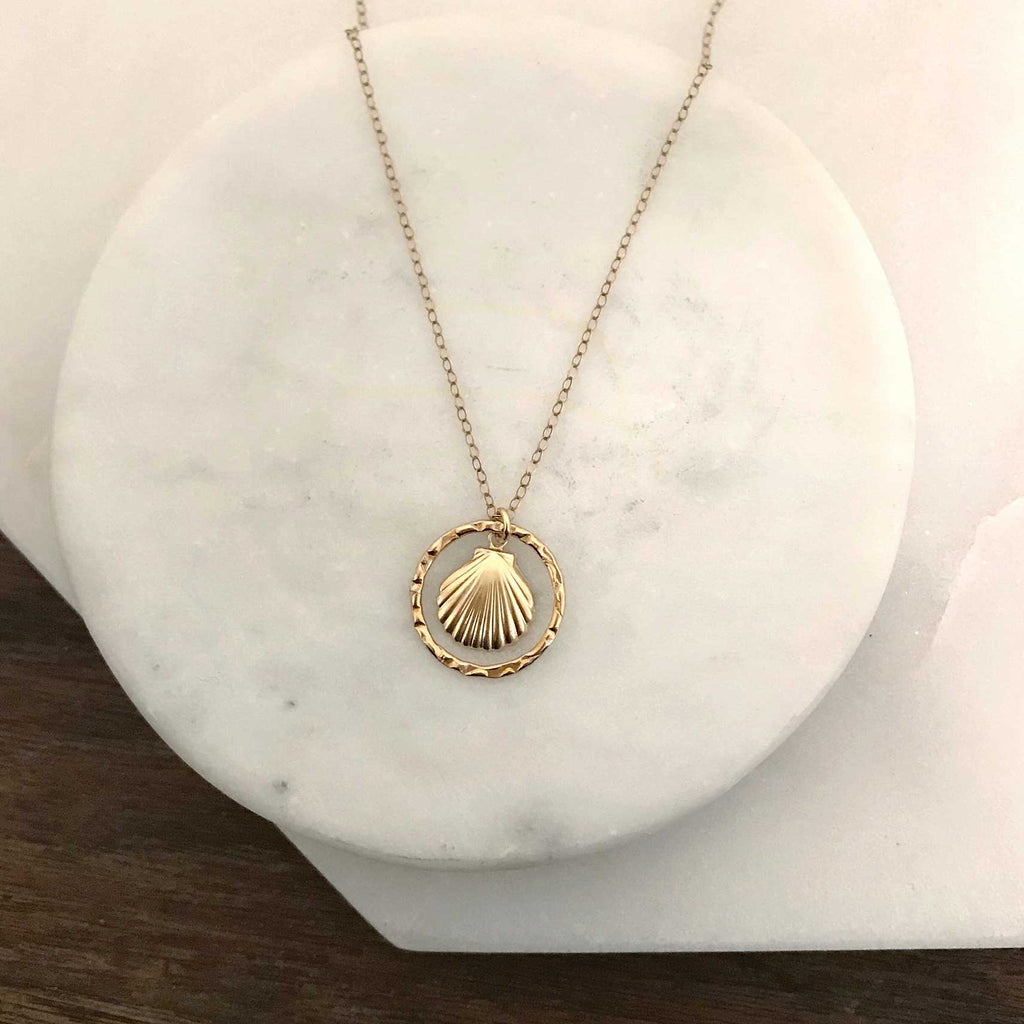 MOVV Siana 14k gold-filled shell necklace