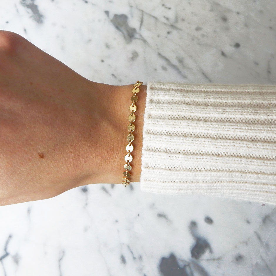 Josefine gold filled dainty coin bracelet