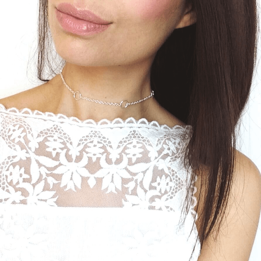 Iva - Silver O Ring Chain Choker