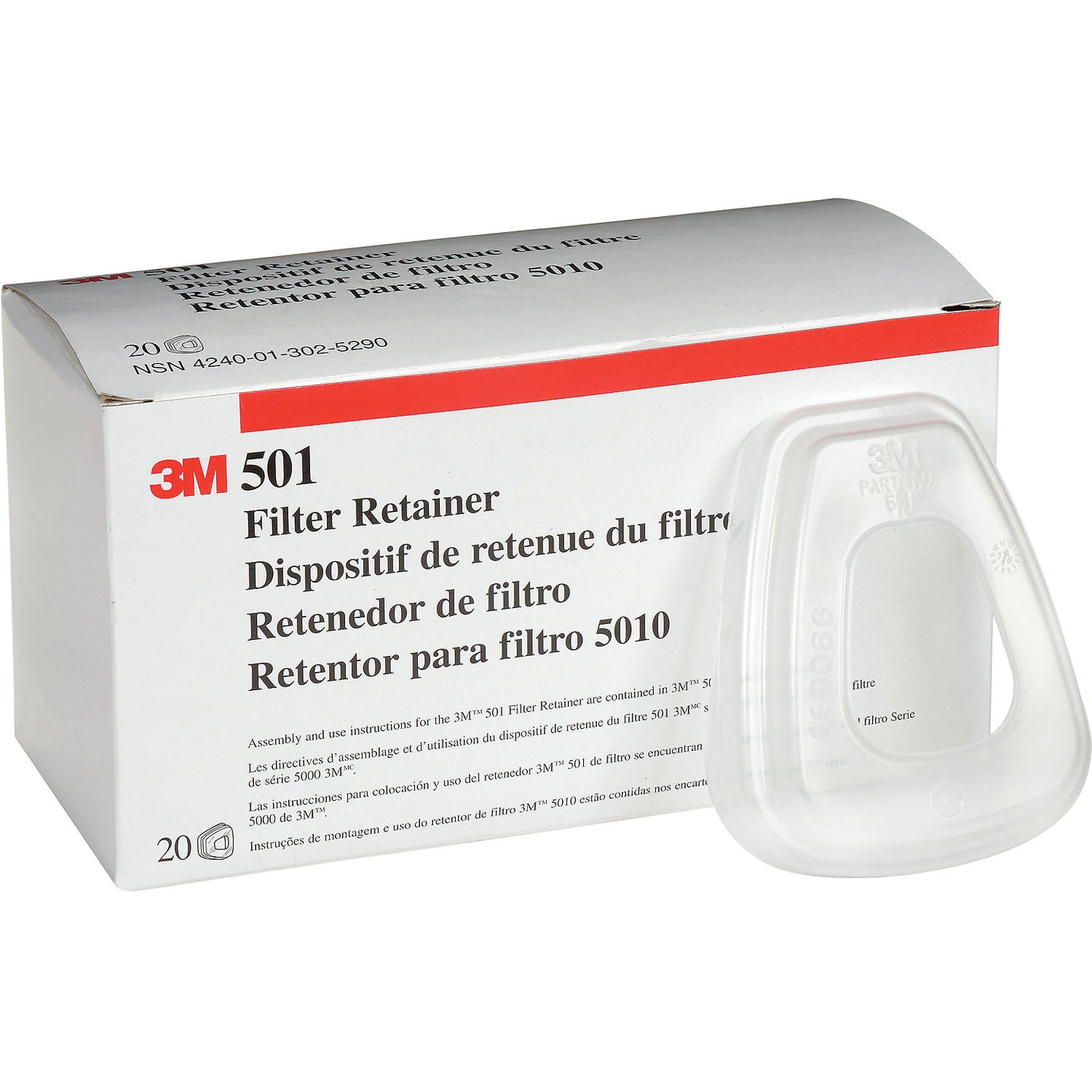 3M® 501 Filter Retainer for 5N11 (20 Pack)