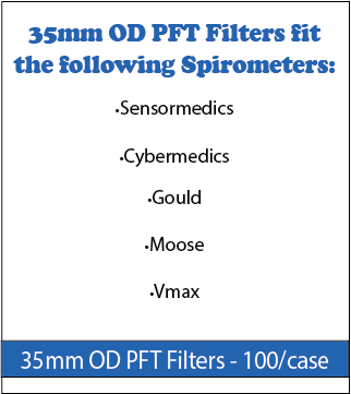 35 mm OD PFT Filters for Spirometers