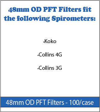 48 mm OD PFT Filters for Spirometers