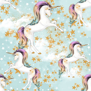Rainbow Unicorn Unicorns in Stardust Blue