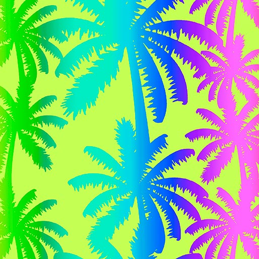 Tropical Breeze Breezy Palm Trees Lime