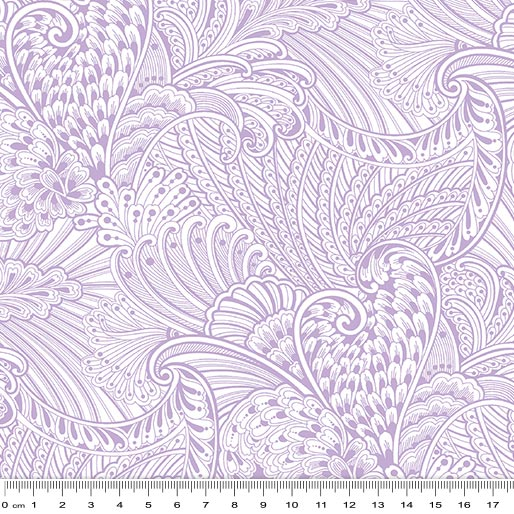 Peacock Flourish Opulence Tonal Light Purple