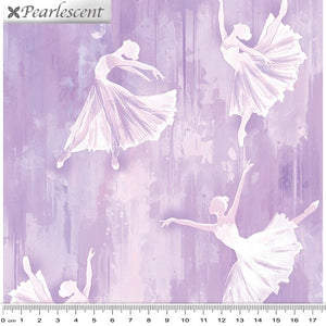Pearl Ballet Ballerina Silhouette Lilac Pearlescent