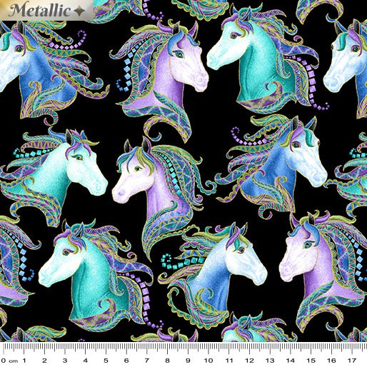 Horsen Around Horse Portraits Black/Multi