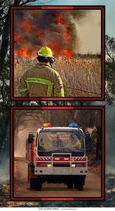 Wildfire Heroes Firefighter and Firetruck Panel