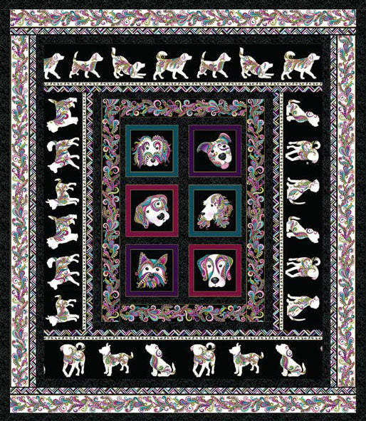 'Dog Walk' Quilt Pattern | Dog On It