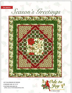 Ode to Joy 'Season's Greetings' Quilt Pattern