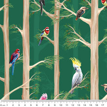 Load image into Gallery viewer, Birds of the Bush Among the Gums Green