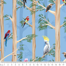 Load image into Gallery viewer, Birds of the Bush Among the Gums Sky Blue