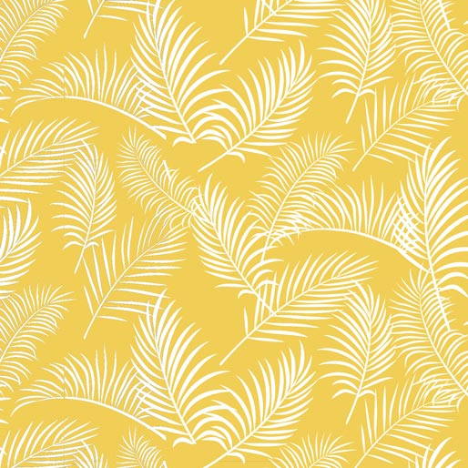 Australiana Soaring Ferns on Yellow