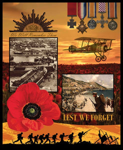 Remembering WWI Panel 36 x 44 Inch