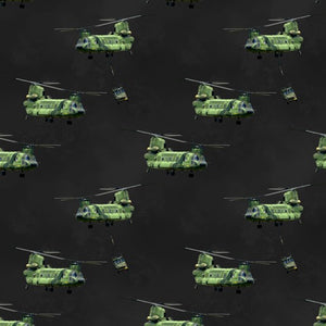 Remembering Vietnam Chinook Helicopter Allover Charcoal