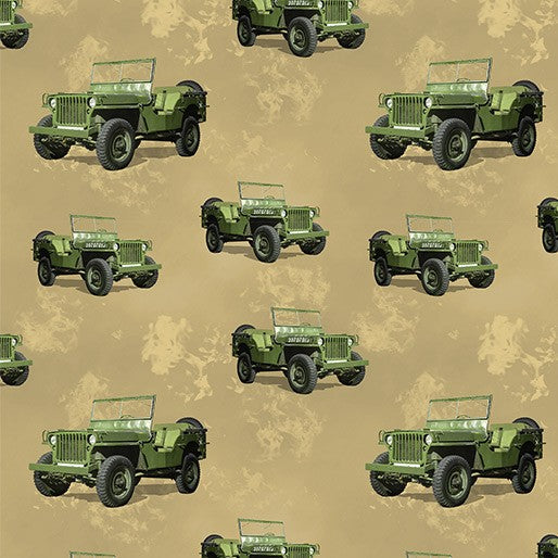 Remembering Vietnam Army Jeep Sand Beige