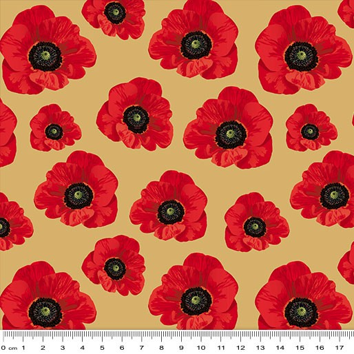 Remembering Poppies on Beige Small