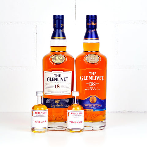 Glenlivet 18 Years Old (2010s vs. 2020 Set) 2x5cl - Whisky Grail