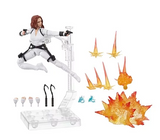Black Widow Marvel Legends 6-Inch Deluxe White Costume Action Figure with Stand - Coming in April 2020