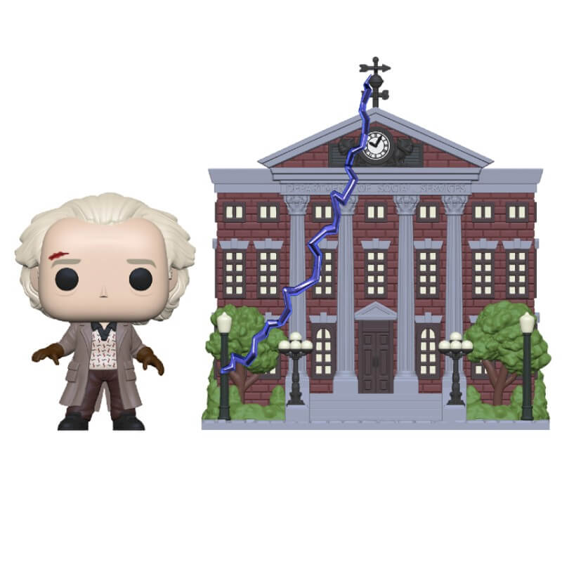 BACK TO THE FUTURE DOC WITH CLOCK TOWER POP! TOWN Coming in July 2020