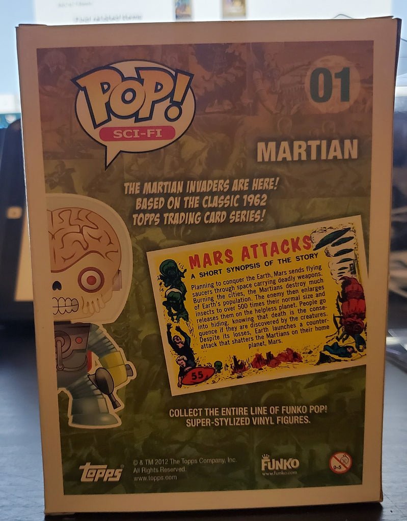 Funko Pop! Mars Attacks 01 Martian Metallic SDCC 2012 LE480