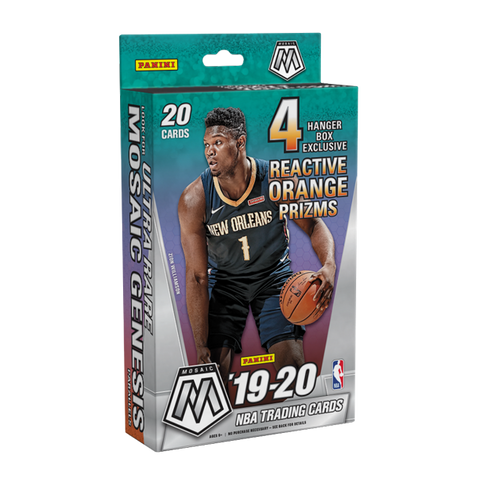 2019-20 Panini Mosaic NBA Basketball Trading Cards Hanger Box- Exclusive - 20 Cards