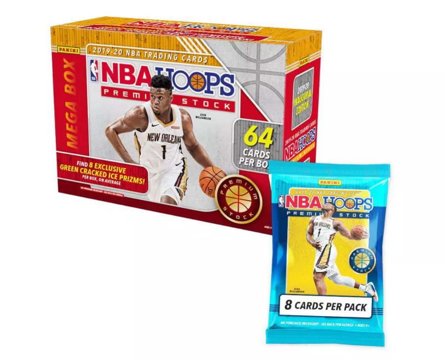 2020 NBA Hoops Premium Stock Basketball Trading Card Target Mega Box