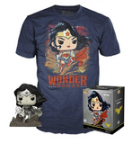 Funko Pop (Jim Lee) Black & White Wonder Woman T-Shirt Bundle