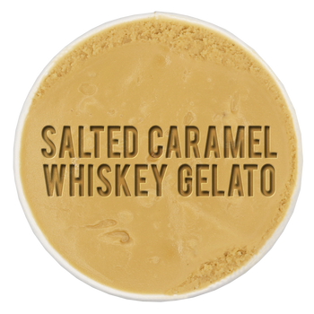 Salted Caramel Whiskey Gelato