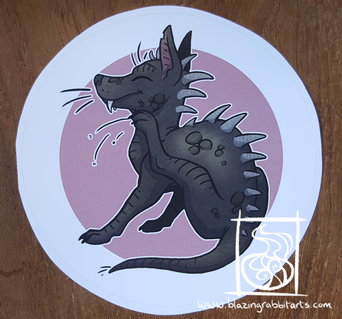 Cryptid Sticker 'El Chupacabra'