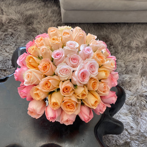 Ombré fresh Roses box