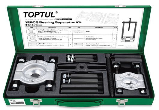 KIT 12 PCS EXTRACTOR RODAMIENTOS