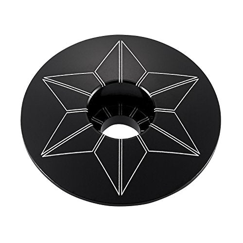 Supacaz Unisex's Star Capz Black (Anodized)