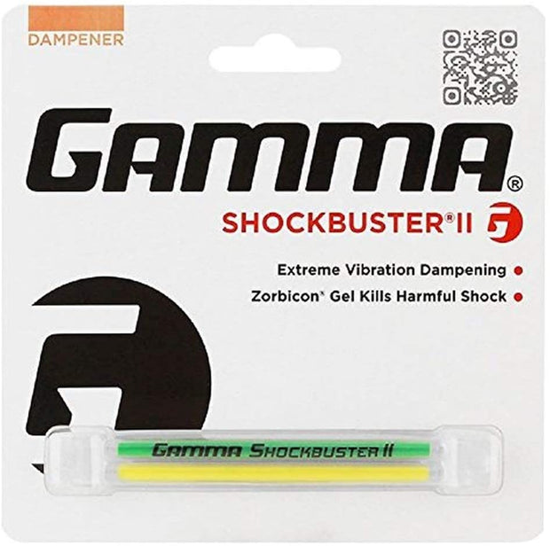 Gamma Shockbuster II Vibration Dampener, Tennis Racquet Shock Absorber, Advanced Zorbicon Gel for Maximum Vibration Reduction