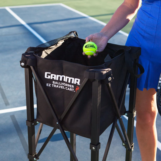Gamma Sports EZ Travel Cart Pro, Portable Compact Design, Sturdy Lightweight Construction, 150 or 250 Capacity Available, Premium Carrying Case Included