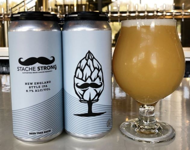 Beer Tree Beer Co - Stache Strong NE IPA NEW ARRIVAL (Supporting Brain Cancer Research)