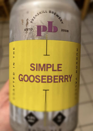 Peekskill Brewery - Simple Gooseberry Sour NEW ARRIVAL