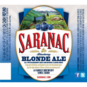 Saranac Brewery - Blueberry Blonde Ale NEW ARRIVAL