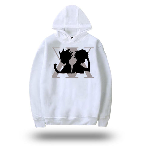 Sweat Hunter x Hunter <br> Gon x Kirua - Blanc
