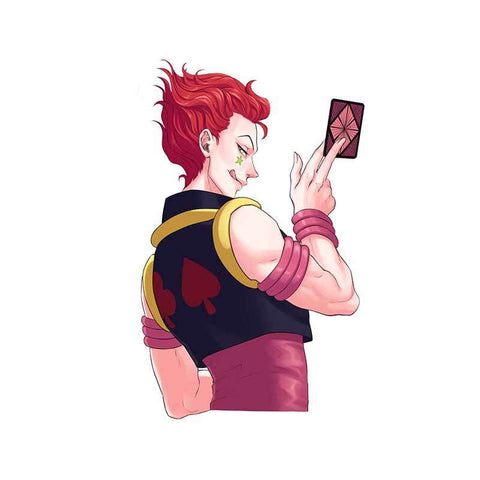 Sticker Mural Hunter x Hunter Hisoka Carte As De pike