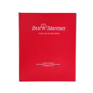 Honolulu Star-Advertiser Custom Birthday Book