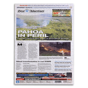 Honolulu Star-Advertiser Custom Front Page Jigsaw Puzzle