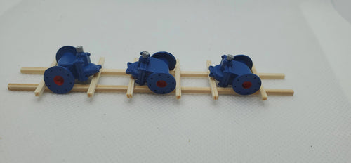 11577 3 Pumps mounted on a Wooden Frame HO Scale