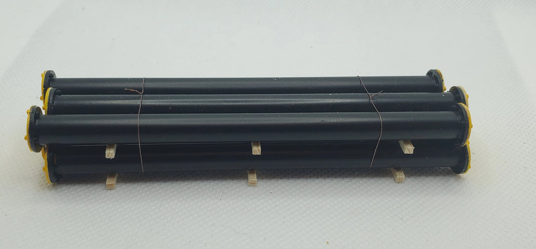 11548 Short Black Piping with Yellow Ends HO Scale