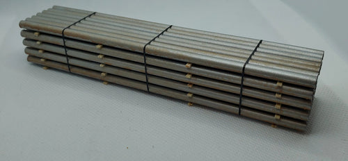 11545 Stack of Silver Piping  Lightly Rusted HO Scale