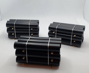 11547 3 Stacks of Black Piping Bundled HO Scale