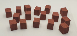 11519 16 stacks of red bricks HO Scale
