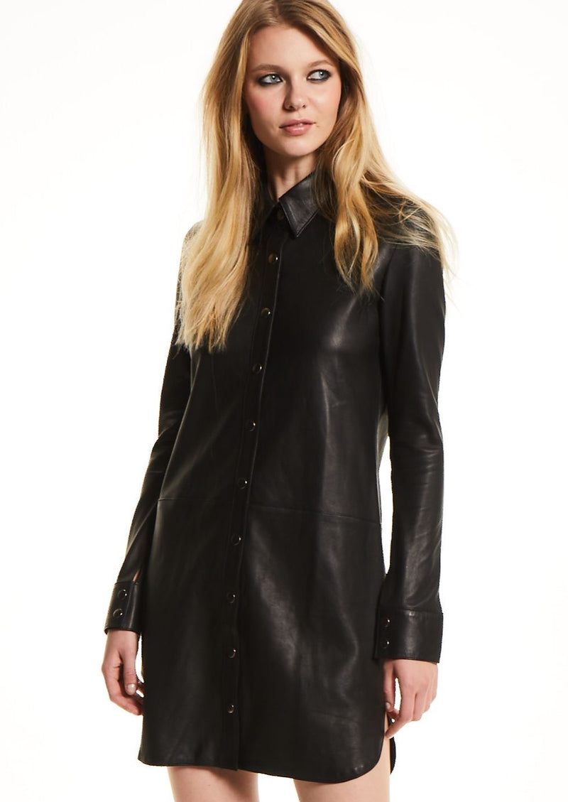 B I L L I E  Leather Dress
